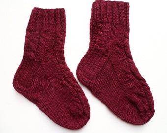 Hand knit socks Warm socks