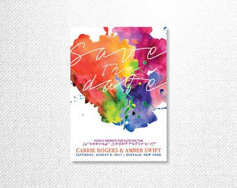 Colorful Paint Splatter Wedding Package