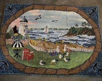 Original Hand Hooked Wool Rug