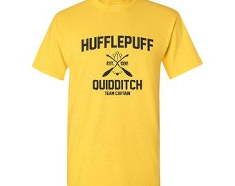 Harry Potter Shirt Hufflepuff Shirt Harry Potter Hufflepuff Quidditch Hogwarts Hufflepuff Tshirt Hufflepuff T-shirt Hufflepuff Tee Unisex