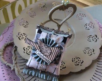 Celebrate Ornament - Birthday Ornament - Piano Key Fabric Decor