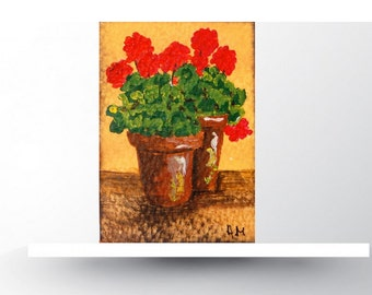Aceo cards, aceos flowers, acrylic painting, miniature art work, artist  card, original painting, card making, original aceo