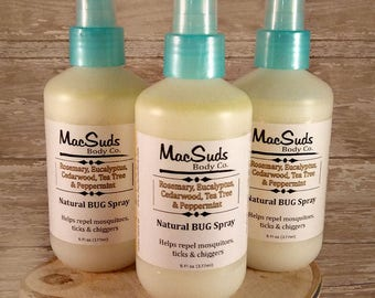Natural Bug Spray, 6oz, Earthy Scent,  Bug Spray, Kid Safe, DEET Free Bug Spray, Insect Repellent, Natural Skin Care, Essential Oil