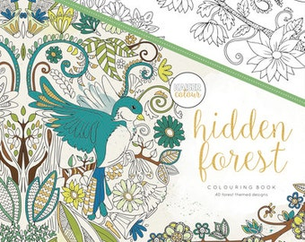 Kaisercraft Adult Colouring book, 40 designs, hidden Forest