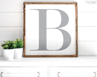 Letter Wood Sign | FREE SHIPPING | Farmhouse Wood Sign | Shabby Chic Decor | 23x23 | 29x29 | 35x35