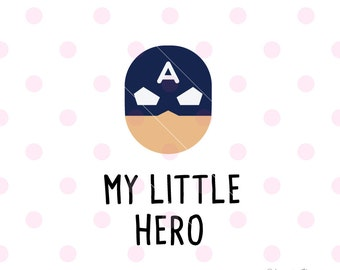 Super hero SVG, my little hero svg  DXF Vector. Cricut Explore. Cricut Cutting Machine & More.  encouragement love  Svg Quote SVG Art