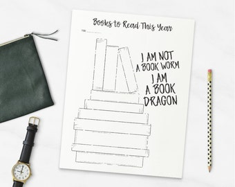 Printable Books to Read This Year - Journal Page