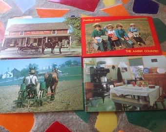Vintage set of Amish Pennsylvania Dutch photograph post cards