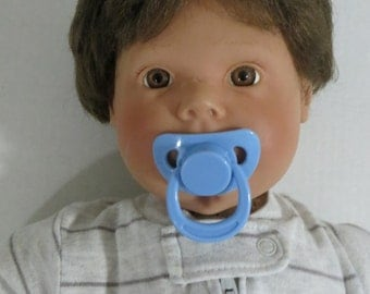 Reborn Doll Magnetic Pacifier BLUE Boy Pre-Made With Extra Magnet + Putty OOAK Choose