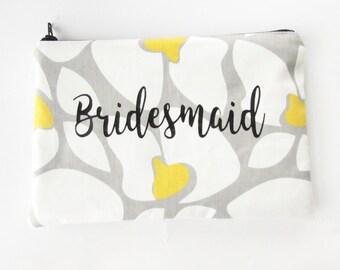 Bridesmaid Bag - Monogram Makeup Bag - Personalized Makeup Bag - Cosmetic Bag - Toiletry Bag - Wallet - Medium