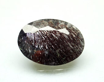 20% Off Melody Super7 crystal faceted oval 12.85 carat / Super Seven Gemstones / super 7 stone / Crystal super7