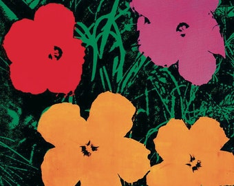 ANDY WARHOL - 'Ten foot flowers' - original limited edition offset lithograph - c1993 (large. Pop art)