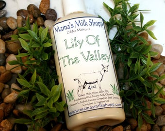 Lily of the Valley - Goat Milk Lotion - Handmade Lotion - Skin Care - Hand Lotion - Goats Milk Lotion - Body Lotion - Homemade Lotion