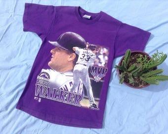 Vintage Larry Walker 1997 MVP T-Shirt