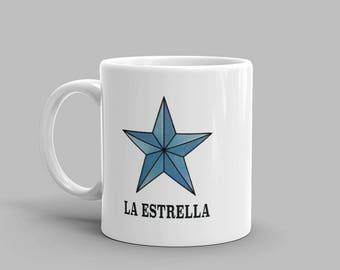 La Estrella Mug - Loteria Print Mug - Mexican Loteria Mug - Occult Mug - Occult Coffee Mug