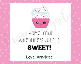 Valentine's Cupcake Gift Tag