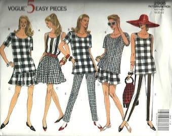 Vogue 2905    Misses Top, Split Skirt, Shorts and Pants     Size 18,20,22  C1992 Uncut