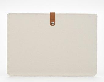MacBook Air Sleeve- MacBook Cover - Macbook Air 13 Case - Macbook Air 13 Felt and Leather Case
