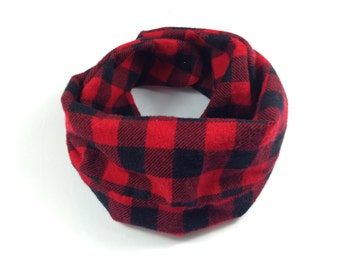 Buffalo Plaid Baby Scarf Baby Plaid Scarf Buffalo Check Baby Scarf Plaid Toddler Scarf Lumberjack Baby Scarf Red Plaid Baby Scarf