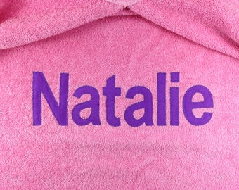 Personalized Hooded Bath Towel Toddler Hooded Towel Baby Hooded Towel Hooded Towels for Kids Hooded Beach Towel Personalized Towels