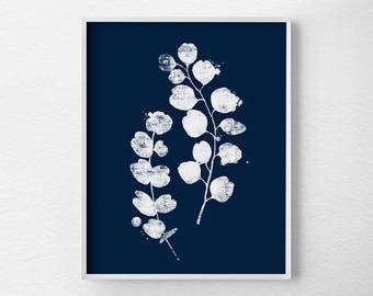 Eucalyptus Leaves Print, Leaf Print, Leaf Art, Leaf Decor, Leaf Skeleton, Botanical Print, Botanical Poster, Botanical Wall Art