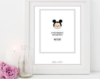 A4 Disney Series Print | Mickey Mouse