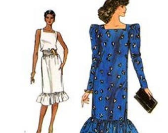 Vintage Vogue 8261 – Womens Misses Sleeved & Sleeveless Dress Sewing Pattern – Size 12-14-16 - Uncut and Factory Folded