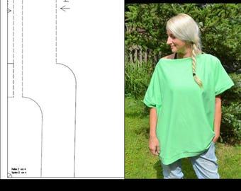 ebook oversize shirt beginners simple sewing instruction pattern