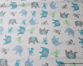Flannel Fabric - Adventure Tossed Boy - 1 yard - 100% Cotton Flannel