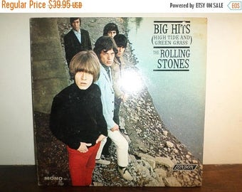 Save 30% Today Vintage 1966 Vinyl LP Record The Rolling Stones Big Hits High Tide and Green Grass Mono Excellent Condition 10224
