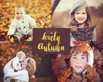 75% OFF! - Lovely Autumn {39 Photoshop Actions for CS5, CS6 and CC}