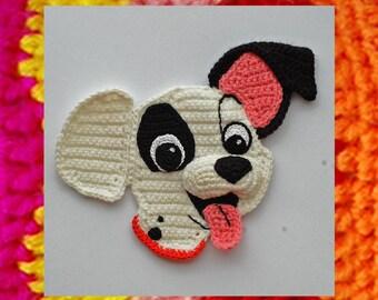 Crochet Pattern. Applique. Patch (101 Dalmatians)