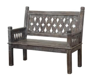 whitewash teak bench from terra nova designs - Teak Bench