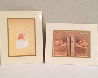 "ANNE GEDDES Set of Baby Prints  Matted 8x10"" Little Thoughts w Love 1995 NEW"