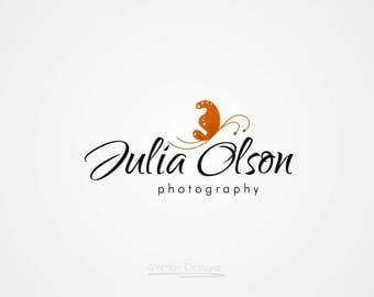 Butterfly logo. Premade logo and Photography logo - Watermark.