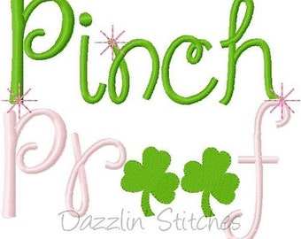 Personalized St Patricks Patty Day Pinch Proof Applique Shirt or Onesie Girl or Boy