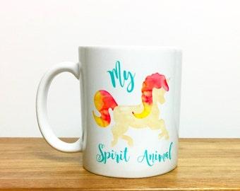 unicorn mug // spirit animal // unicorn // unicorn coffee mug // unicorn spirit animal mug // i love unicorns // unicorn gift // unicorns