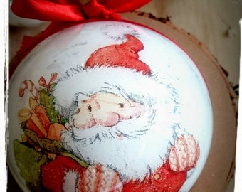Santa Claus-Christmas Bauble,Christmas ornaments,Christmas wishes,Bespoke ornament,