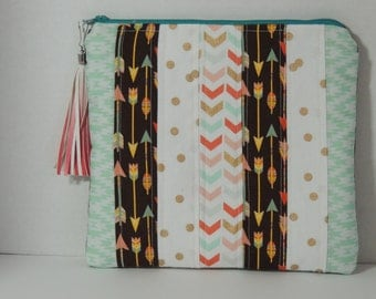 strip work and quilted cosmetic bag makeup pouch cosmetic clutch