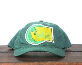 Vintage Public Transportation Roadeo Bus Rodeo Washington State Trucker Hat Snapback Baseball Cap