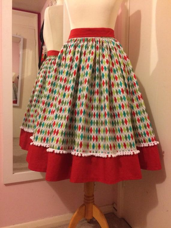 Holiday harlequin skirt