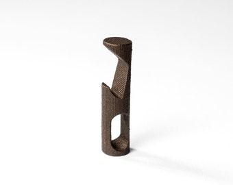 Carlson Bottle Opener - Mini Bottle Opener Keychain - 3D Printed EDC - Keychain Tool - Beer - Groomsman Gift - Bronze Gold Black Gray