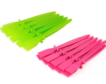 Proops 20 x Plastic PVA Glue Spreaders, 10x Green & 10x Pink. Craft, Adhesive, Paste, Spatula (S7628) Free UK Postage.
