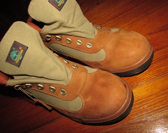 Vintage Timberland Chukka Boots Two Tone Suede / Canvas size 12 1/2
