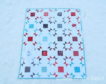 Lap Size Layer Cake Pop Quilt, Using Riley Blake Desert Bloom Fabric, Handmade by Quilting Jetgirl