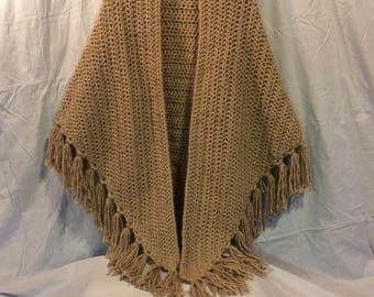 Basic Triangle Shawl. Simple Yet Classy