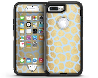 Gold Flaked Animal Light Blue 5 - OtterBox Case Skin-Kit for the iPhone, Galaxy & More