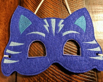 PJ Masks Catboy costume mask with elastic, Kids birthday party, party favor, Halloween