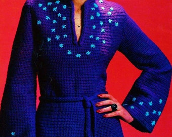 Crochet Tunic Top Vintage Crochet Pattern Download