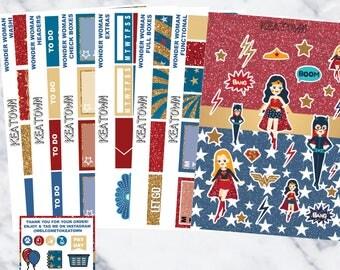 Wonder Woman Exclusive Kit (7 sheets)